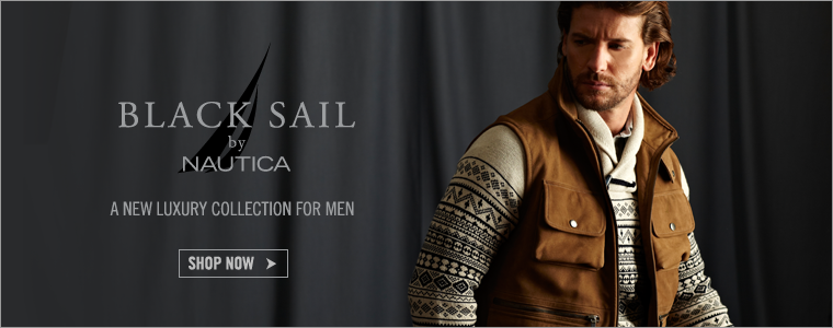 Black Sail by Nautica. A new Luxury Collection for Men. Shop Now>
