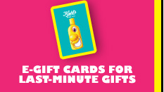 E-GIFT CARDS FOR LAST-MINUTE GIFTS