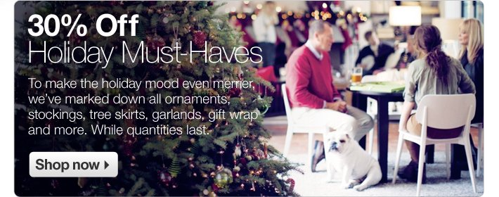30% Off Holiday Must-Haves