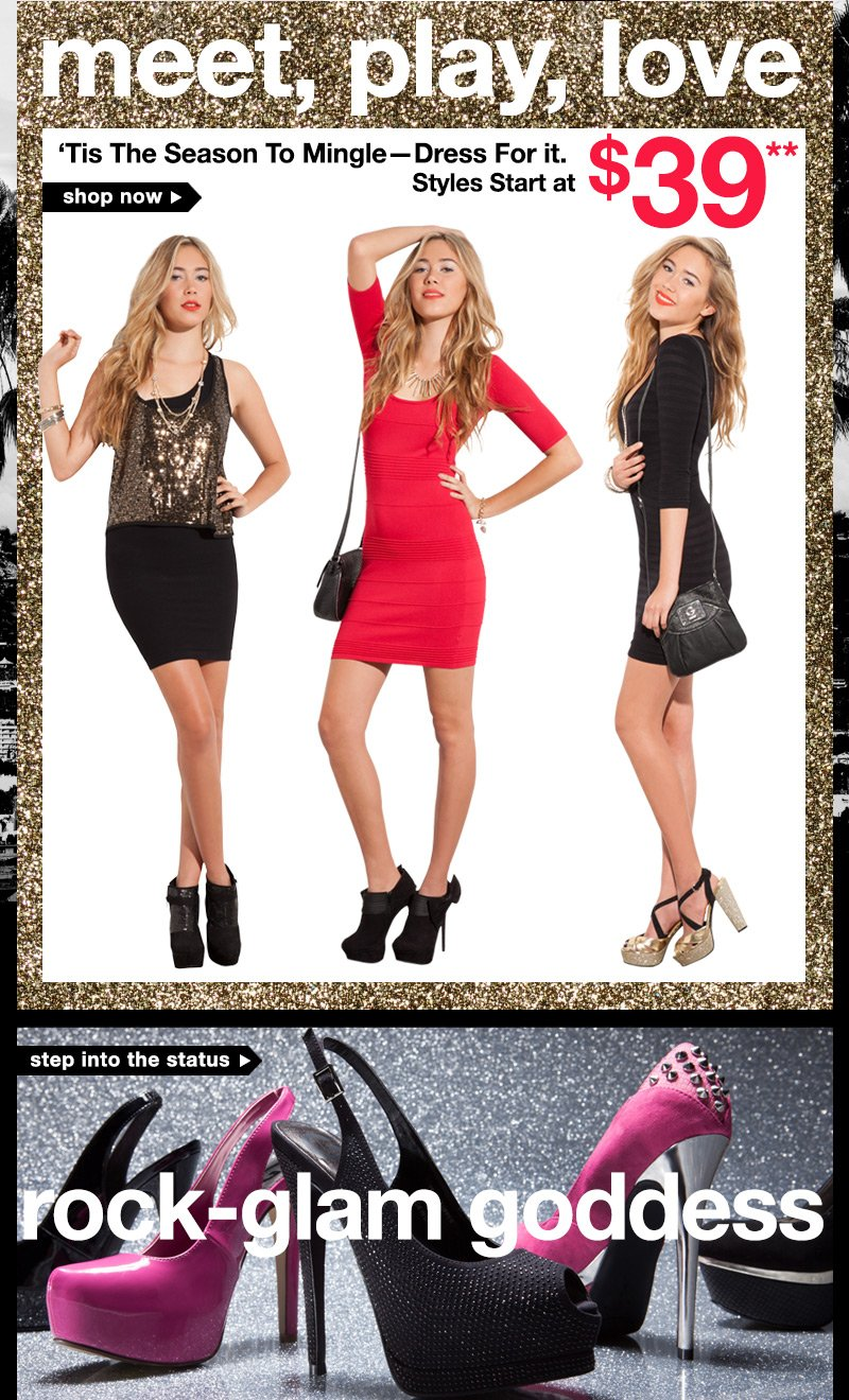 Shop Sexy Holiday Dresses