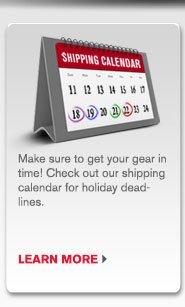 Holiday Shipping Calendar