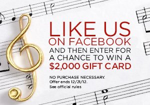 $2,000 HOLIDAY SONGBOOK SWEEPS