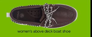 women's above deck boat shoe