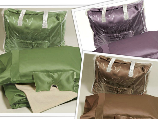 Luxurious Satin Travel Beauty Sleep Kit from Sophie Uliano