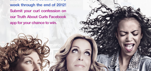 Submit your curl confession on our Truth About Curls Facebook app for your chance to win.
