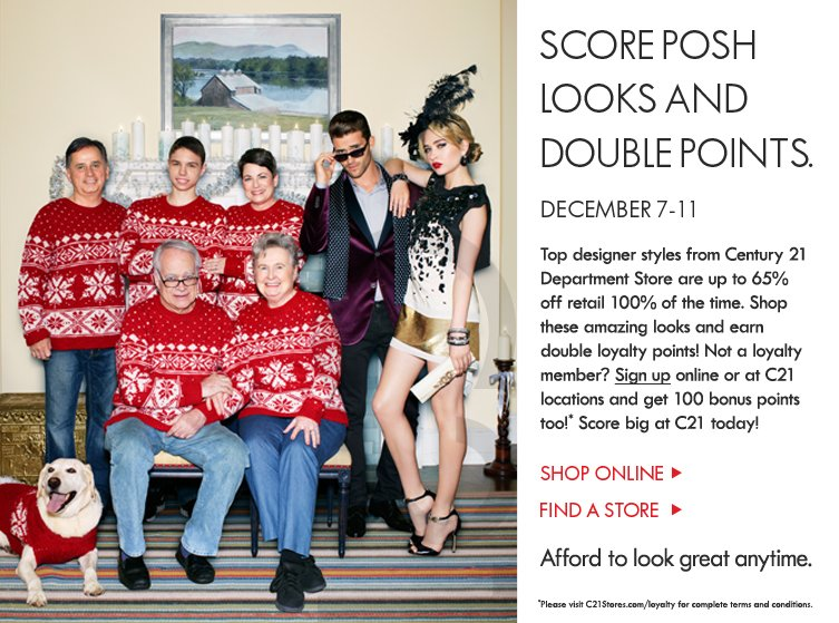 Score Posh Looks and Double Points