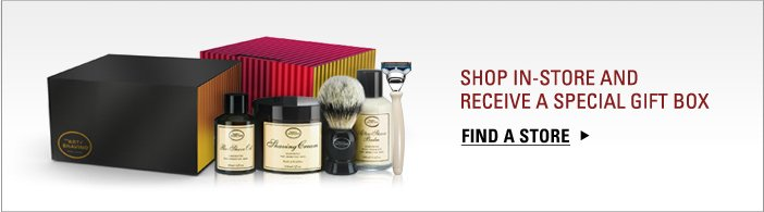 Shop for The Perfect Shave Solution in-store and receive a special gift box.