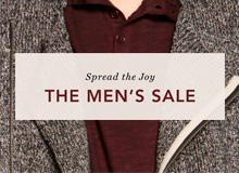 Spread the Joy The Men's Sale