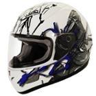 SMS Rhode Gloomy Plush White/Blue Helmet