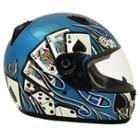 SMS Motoretta Gambler Blue Full Face Helmet