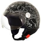 SMS Classico Angel Glossy Black Helmet