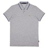 Paul Smith Polo Shirts - Grey Marl Zebra Appliqué Polo Shirt