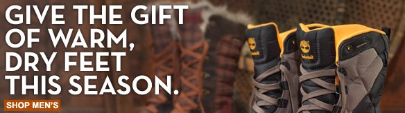 Give the gift of warm, dry feet this season. Shop men's