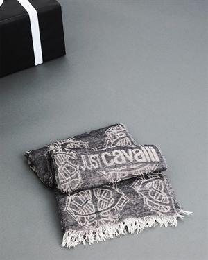 Just Cavalli Logo Wool Scarf $65