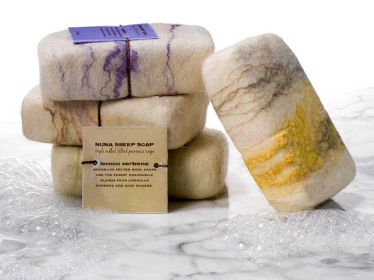You will love these hand crafted sheep's wool soap by Nuna Knits - they look gorgeous and FEEL amazing.