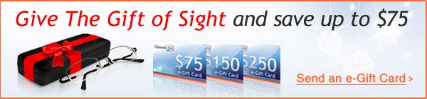 GlassesUSA.com e-Gift Cards!