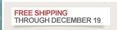 Free Shipping through December 19