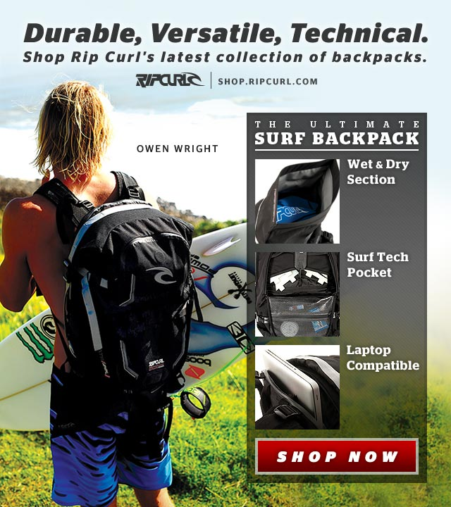 Durable, Versatile, Technical - Shop Rip Curl's latest collection of backpacks. The Ultiamte Surf Backpack - Wet & Dry Section, Surf Tech Pocket, Laptop Compaatible - Shop Now.