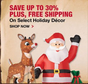 Save up to 30% and Free Shipping on Holiday Décor