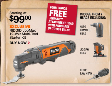 RIDGID Job Max 12-volt Multi-tool starter kit