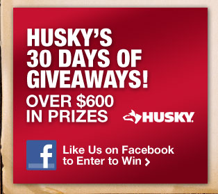 Husky's 30 days of giveaways! Over $650 in prizes