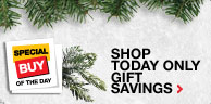 Shop today only gift savings