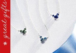 Disney Birthstone Jewelry in Sterling Silver