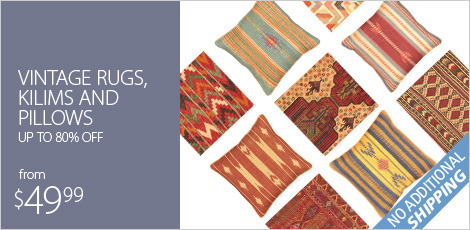 Vintage Rugs, Kilims and Pillows