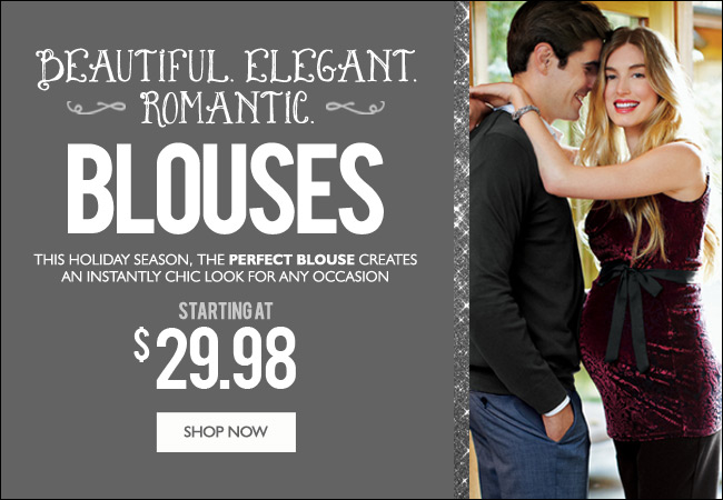 Beautiful. Romantic. Elegant. Blouses