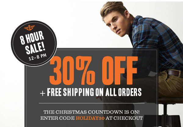 8 Hour Sale! 30% off + Free Shipping on All Orders! Use code HOLIDAY30 at checkout