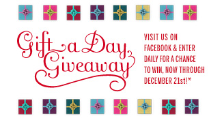 Gift a Day Giveaway! Visit us on Facebook & enter for a chance to win, now through December 21st!