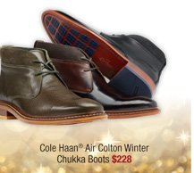 Cole Haan® Air Colton Winter Chukka Boots