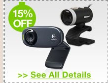 15% OFF ALL WEBCAMS!*