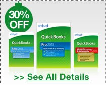 30% OFF SELECT INTUIT QUICKBOOKS 2013 SOFTWARE + FREE ABBYY FINEREADER 9 EXPRESS W/ PURCHASE!*