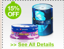 15% OFF ALL CD / DVD / BLU-RAY MEDIA!*