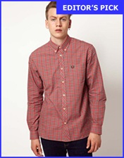 Fred Perry Oxford Shirt Tartan Pinpoint