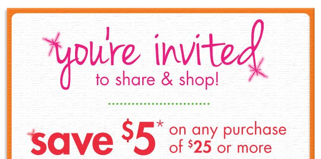 You're invited to share & shop!