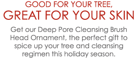 Get our Deep Pore Cleansing Brush Head Ornament the perfect gift to spice up your tree and cleansing regimen this holiday season