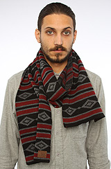 The Aztec Scarf in Heather Charcoal