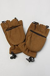 The Convertible Mittens in Brown