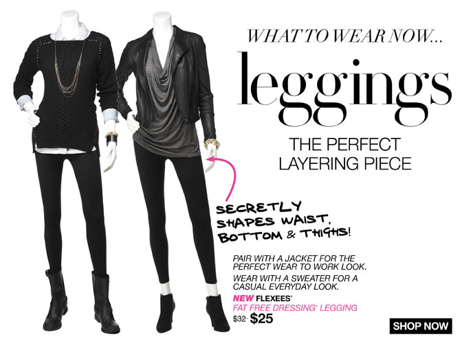 What to Wear Now... Leggings. The Perfect Layering Piece.