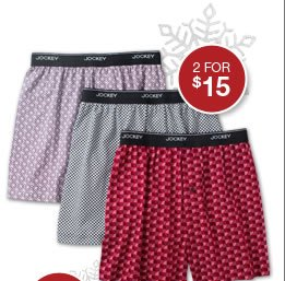 shop boxers, 2 for $15