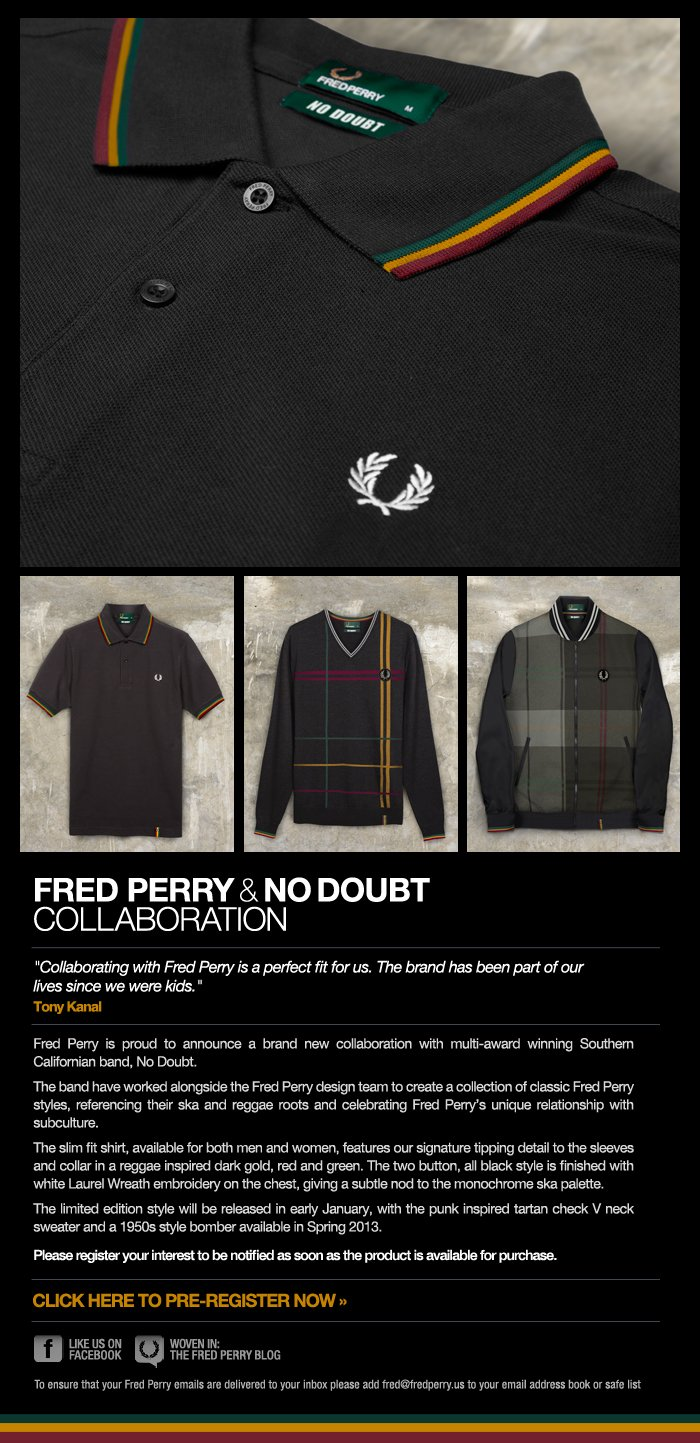 Fred Perry and No Doubt Collaboration