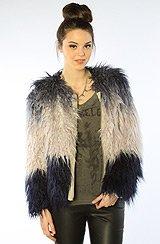 The Dip Dye Faux Fur Coat