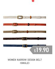 WOMEN NARROW DESIGN BELT(SINGLE)