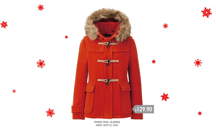 WOMEN WOOL BLENDED SHORT DUFFLE COAT