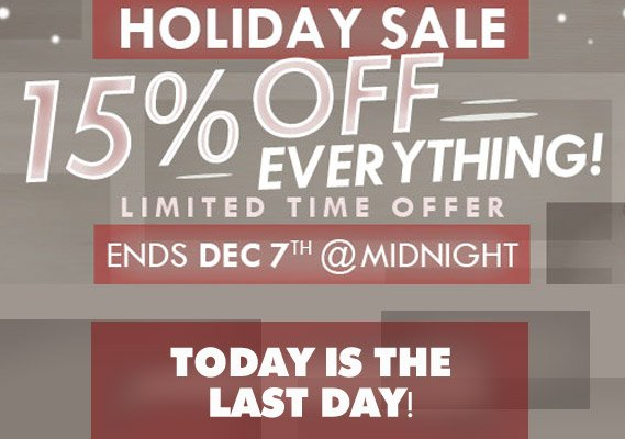 Last Day of Holiday Sale