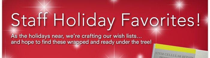 Staff Holiday Favorites!