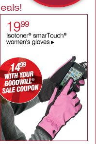 19.99 Isotoner® smarTouch® women's gloves