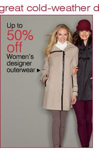 Up to 50% off Women's designer outerwear